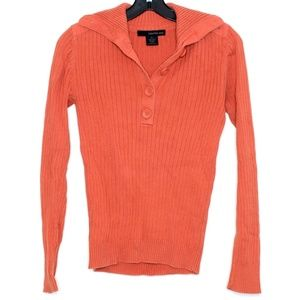 Calvin Klein Jeans Orange Button Sweater Medium C1